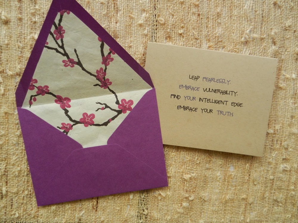 One of the greeting cards from my Spring line! That pop of purple mixed with the pink flowers screams warm weather! http://infinitewarrior.etsy.com