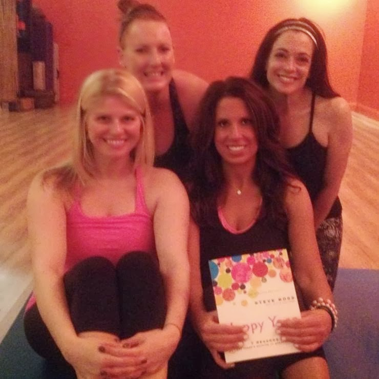 From left to right: Me, Elena, Vanessa, and Julie! Yoginis that travel together practice together.
