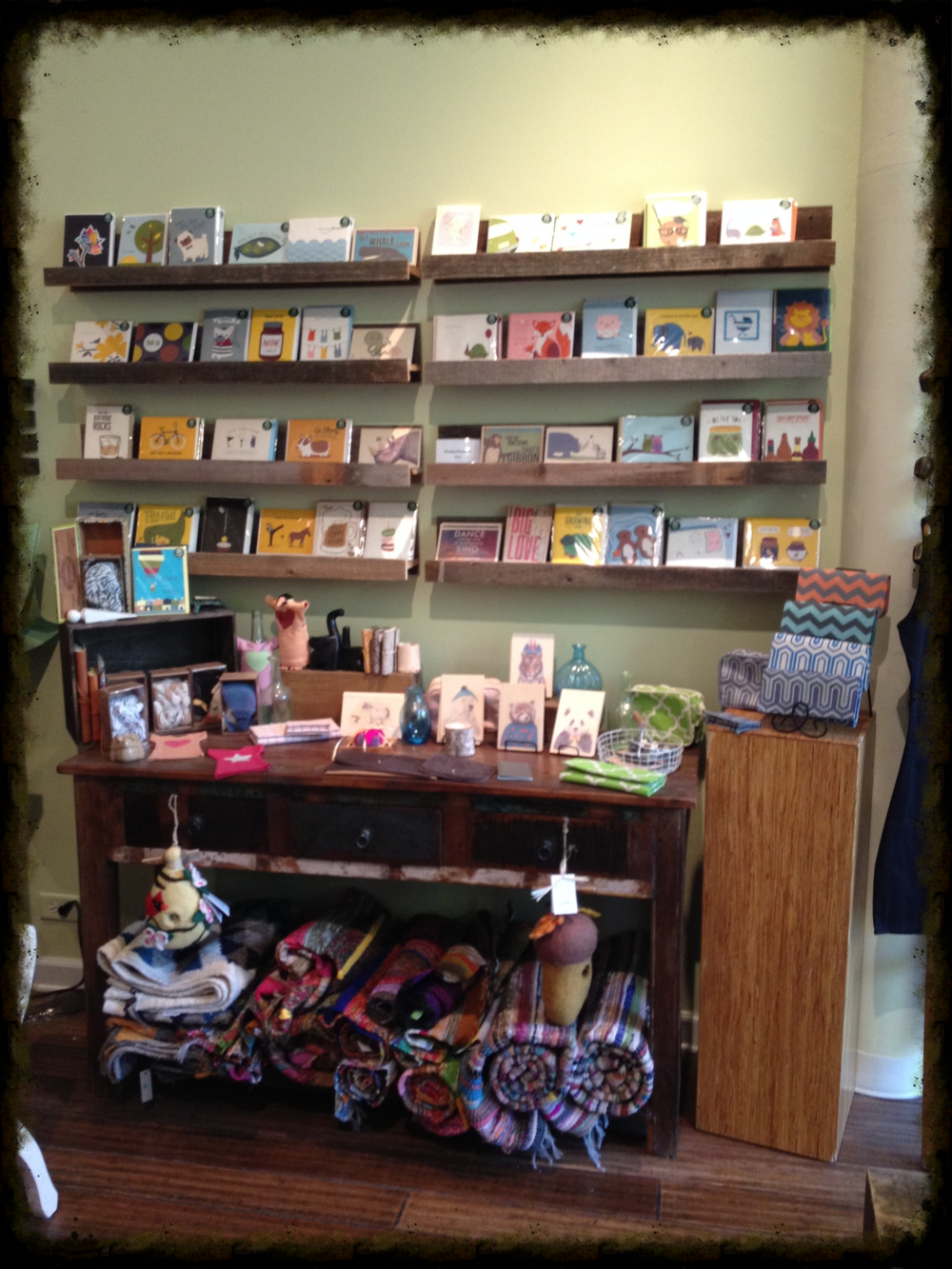 Greeting cards & blankets galore!