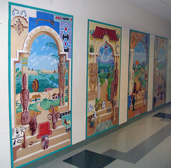 THE WORLD OF ART - 4th grade murals