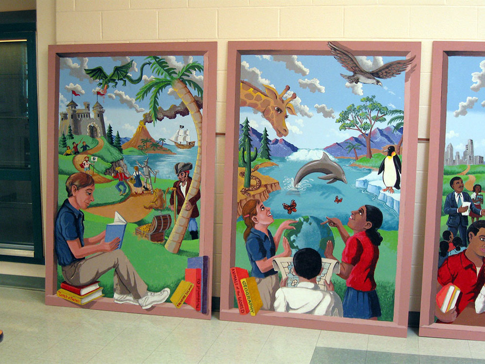 FANTASY WINDOWS - 5th grade murals