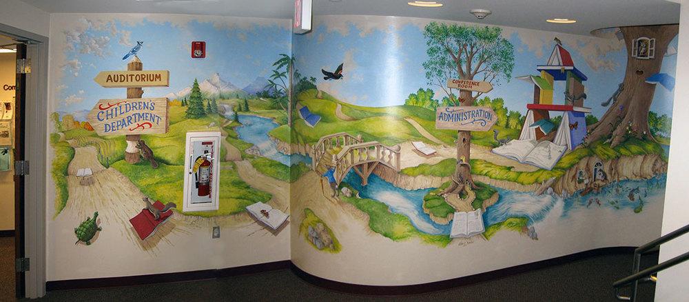 Public buildings glen c davies for Library painting ideas