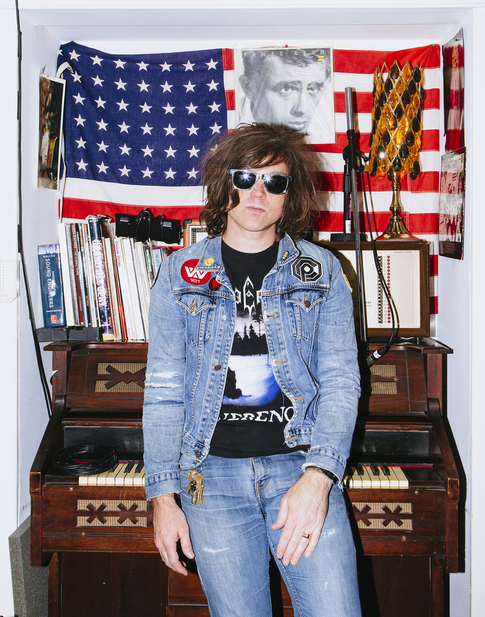 "We photographed Ryan Adams in his Hollywood studio for a record 7 minutes. His self-titled album is due out in September, but you can go ahead and have a dance party to his new single ""Gimme Something Good"" while you wait."