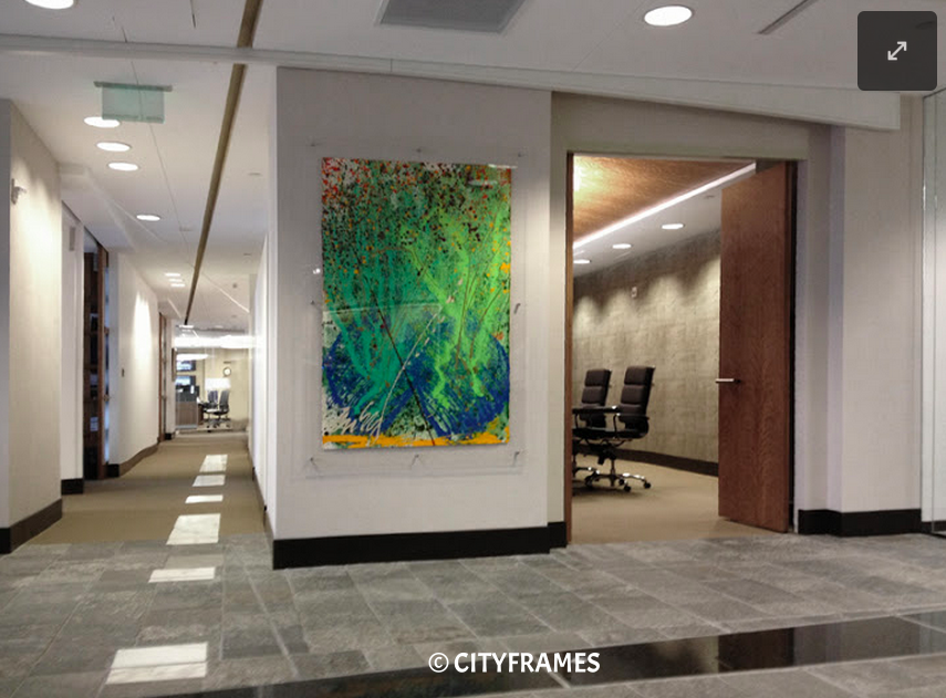 We help create distinct corporate spaces.  Project: Downtown Denver corporate offices. Artwork: Dale Chihuly. Design: Robin Smith.