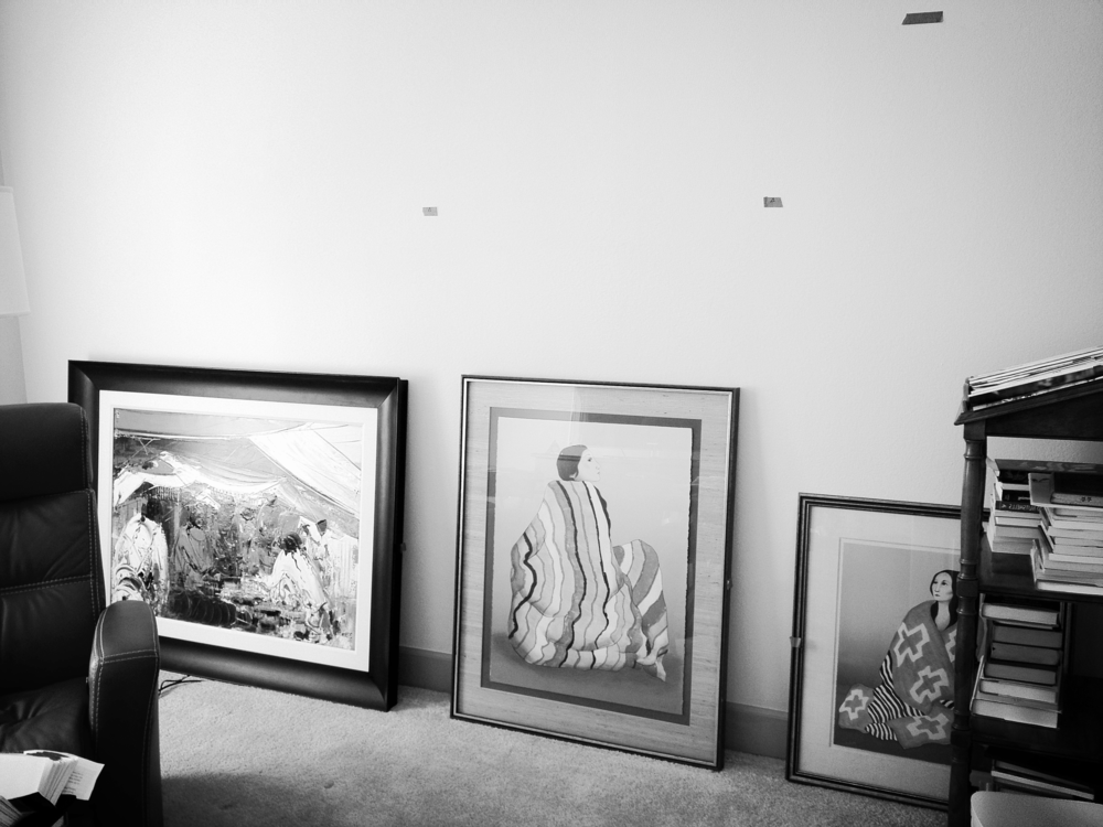We help you decide on the placement of your pictures. Project: private residence, Denver.