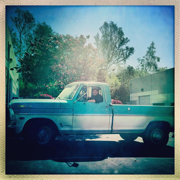 How I roll to #motorcycle #class #ford #ranger #1969 #torquoise @jarnhold  (Taken with  Instagram )