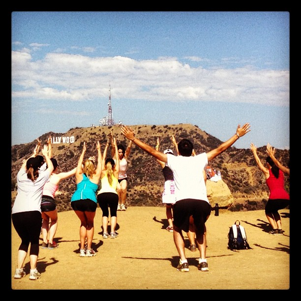 Healthy people praising the #hollywoodsign #hiking #california #style  (Taken with  Instagram )