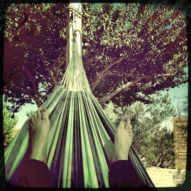 So #nice in a #hammock under a #tree in the #desert  (Taken with  Instagram )
