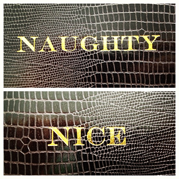 My #cheeky#faux#crocodile#notebook#naughty or #nice not sure which one to be today… #both haha