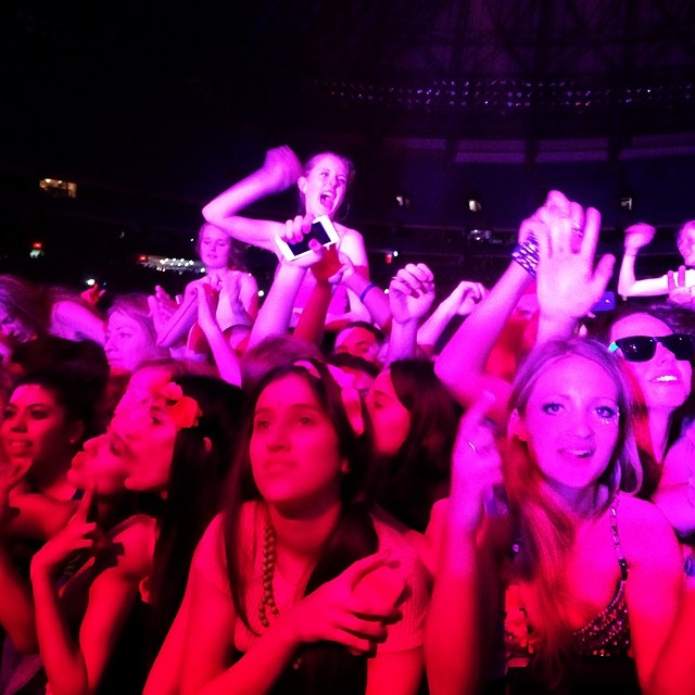 The faces of teenage adoration shooting from backstage at the #avicii #concert #toronto #torontolove #torontolife