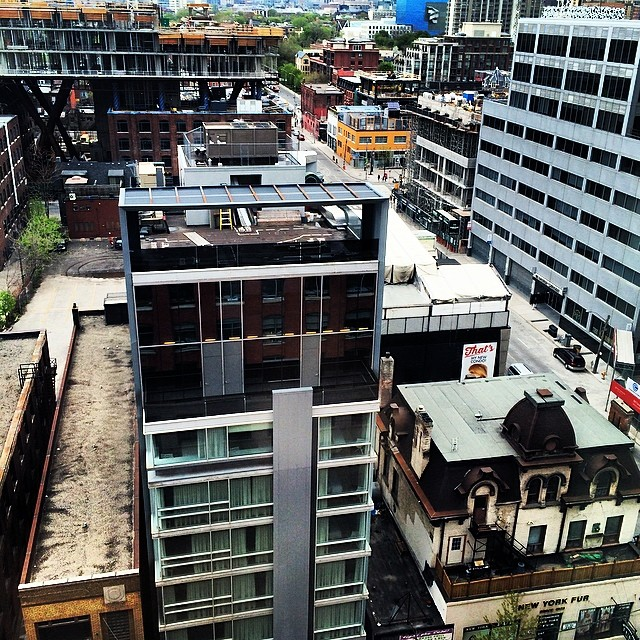 The old next to the new. So many new buildings popping up in this city I barely recognize it. #torontolove #birdseyeview #toronto #canadaeh #cityscape #architecture #love