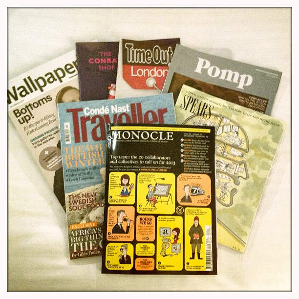 My kind of reading in my hotel room #monocle#timeout#theboundary#pomp#traveller#wallpaper