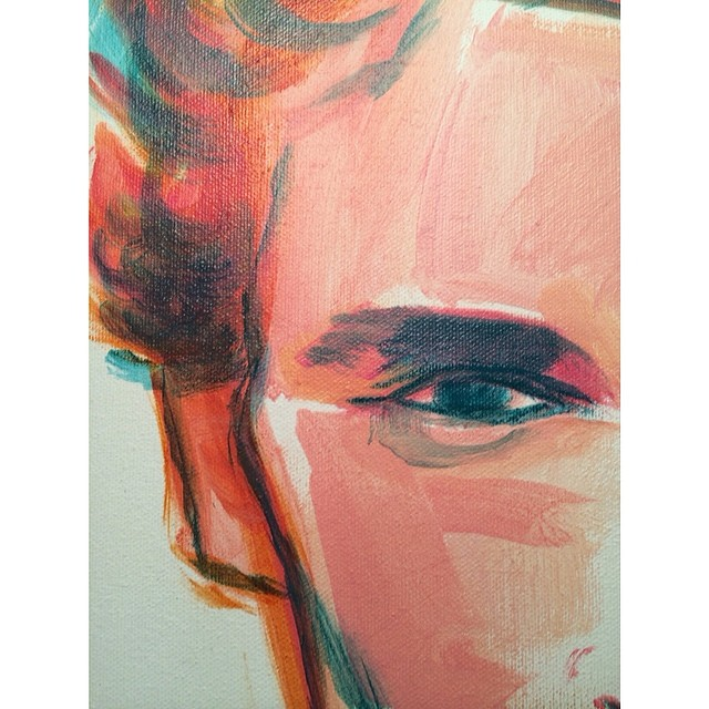 Beginnings of a portrait. Finally painting. Guess I've needed to be hibernating from it for awhile to let things ruminate. It's hard though when you doubt yourself and you feel everything has been done. Finding your own groove in life…You just gotta jump baby. #carpediem #art #artist #portrait #makeportraits