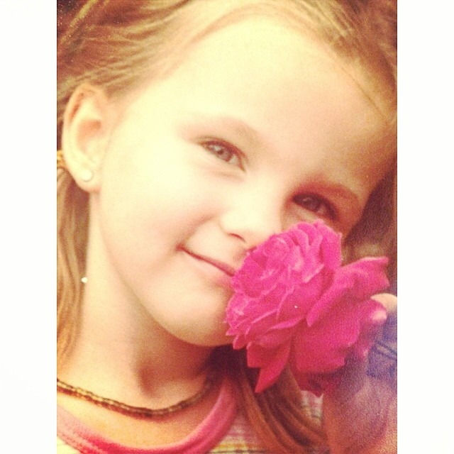 #tbt to my when my #flower obsession started young haha