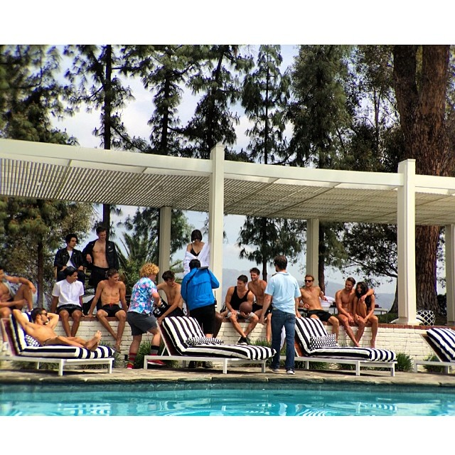 Mission: Cast 15 models in 2 days to dazzle opposite #zoesaldana for a #stuartweitzman #thenudist #commercial so proud to arrive on set to them all looking so fab poolside @stuartweitzman #workingit #setlife #maycharterscasting #modelmayhem #stuartweitzman #fashion #photoshoot #castingdirector #hardworkpaysoff