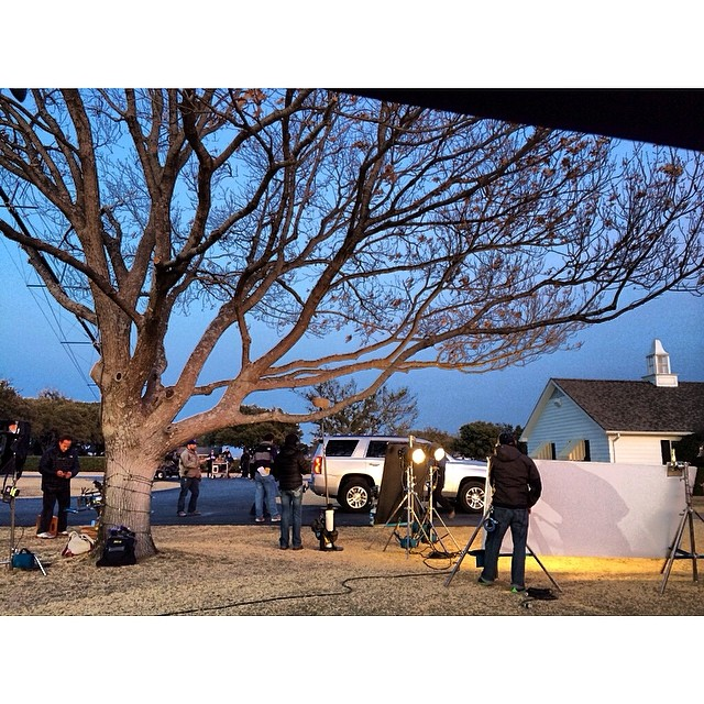 Setting up for the last scene. The view from video village. Fab crew working magic #dallas #texas #alexa #filmsets #setlife #goodtimes #nofilter