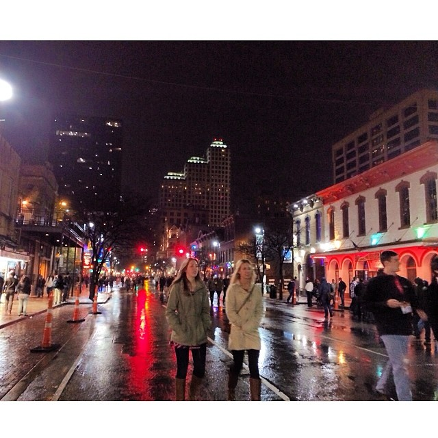 #sxsw in the #rain love long wet light reflections #austin #texas #filmfestival #goodtimes after surviving the long drive in the storm.