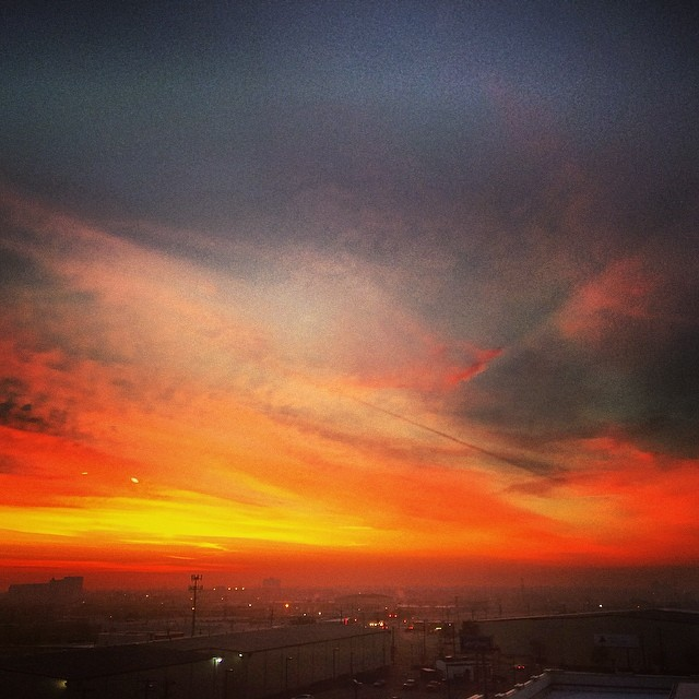 Early morning #sunrise over the south side of #Dallas #beauty #toobloodyearlywithnosleep