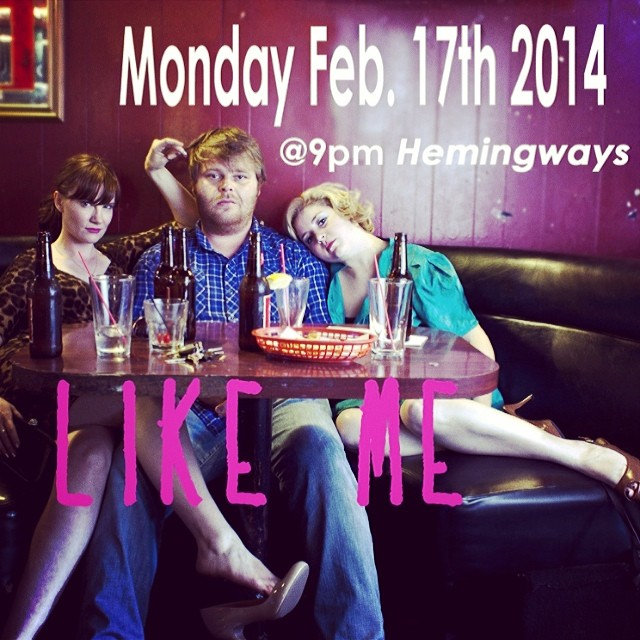 Short film of mine Like Me That I made with @louloulinz plays tonight at 9pm at Hemingways in Hollywood. Come hang out with some crazy filmmakers, watch short films and enjoy $5 drinks ;)  xo
