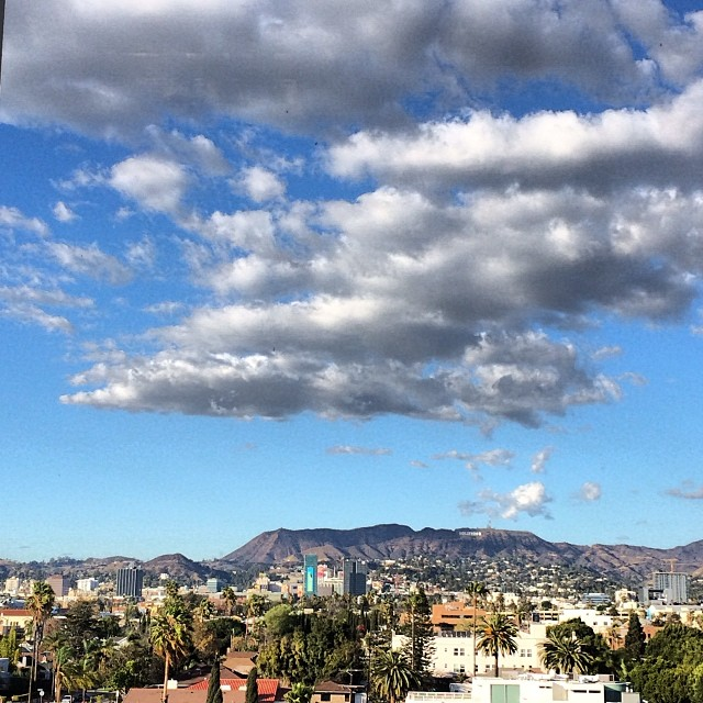 Four hours at the dentist to finally get rid of some mercury fillings. At least I had a great view and music to keep me going. #hollywood #iheartla #cloudporn #hollywoodsign #nofear #nofilter