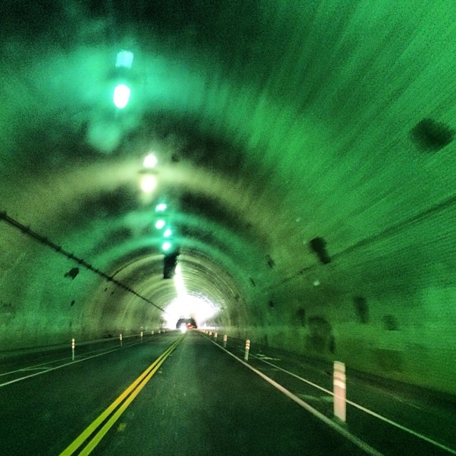 The famous ride down the green tunnel. #fridaynights #dtla #losangeles #love