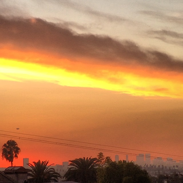 Ah yes. Back to the #California #rooftop #sunset good to be back