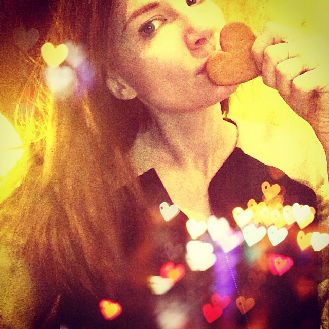 Mmm #swedish ginger hearts for breakfast. They know where it's at Made a wish on this one by candlelight and then devoured it haha #Stockholm #brokenheart be gone! Sad eyes but mending.  #love #laugh #staypositive #livelifetoitsfullest