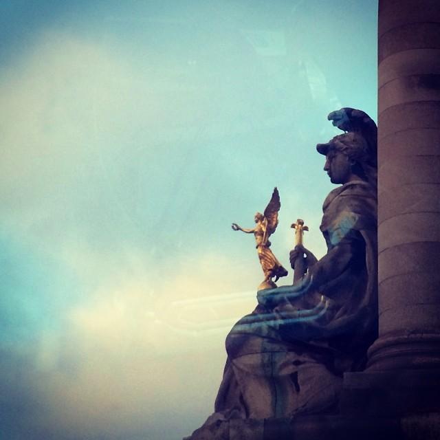 8am #drivebyshot #2 #paris taxi #reflection jetlag is kicking my…