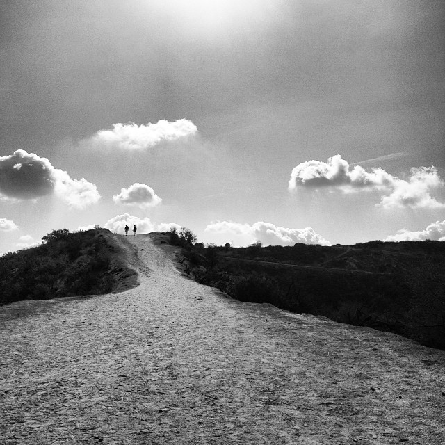 Take the high road or the road less travelled… Perfect day for a hike with good friends #griffithpark #love #cloudporn #bw @robinson_rebeccabecky