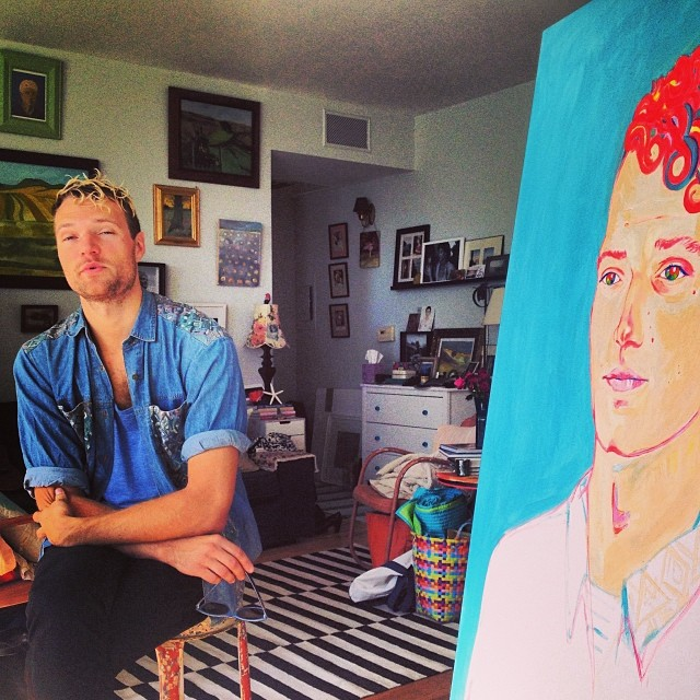 On finishing portraits and philosophical discussions of the roaming gypsy life with talented friends @richaucoin #richaucoin #portrait #painting #art #thelittleprince #neon #gypsies