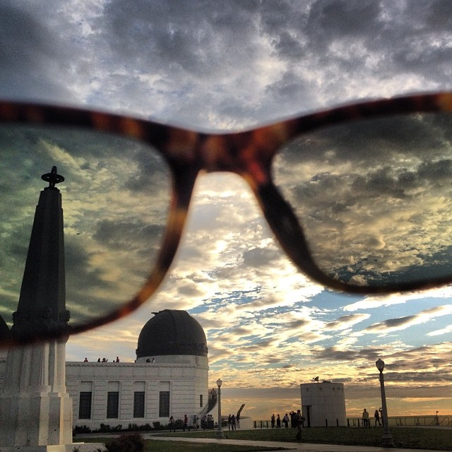 My favorite place in all of #losangeles #griffithobservatory #throughtheeyes of my @Rae n_optics #sunset #love #nofilter