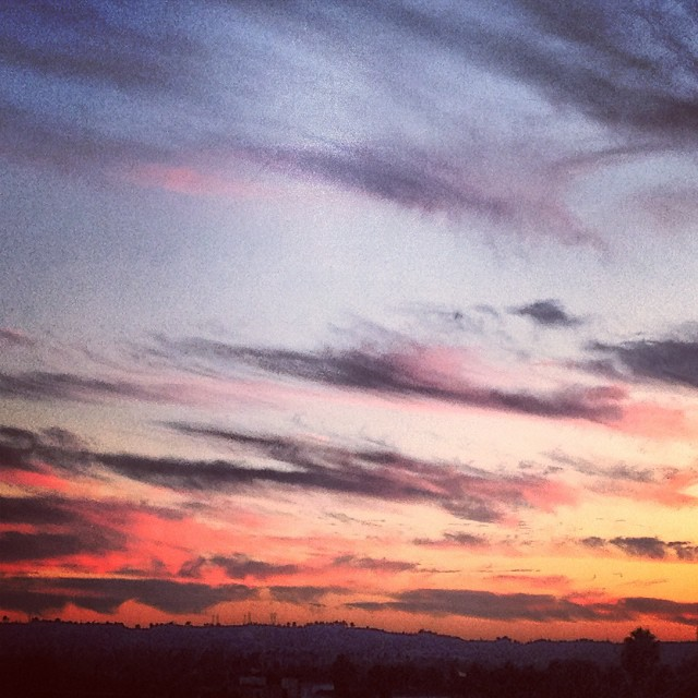 iPhone camera doesn't even do it justice #rooftoplove #california #sunset