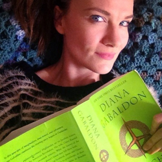 Oh hey. You caught me re reading one of my fav books. Total shameless selfie. But you see I've always wanted to make these into films and be in them. And now they will be a great tv series. #Sogood Totally making a fool of myself by announcing this to the universe. But I admit it. As a Scottish lass I canny help but say I'd love to be apart of this show and play Brianna if they shoot more of the books. Haha. Here's to making wishes and following your dreams. If only I still had an agent to get me in there haha. Funny part though that's tugging at my heart is they asked my dad to shoot it and he had to say no because of scheduling. Oh well. It'll be a great show. And I can keep dreaming and enjoying reading these fab books. Thanks #dianagabaldan for such adventures over the years.  #outlander #brilliantbooks #jesuisprest #shamelessselfie #dreamer