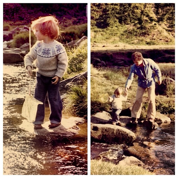 #throwbackthursday#tt #fishing with @rodneykiwi in the hills of northern #england on the way to #scotland Typical me leading my dad across the rocks haha…