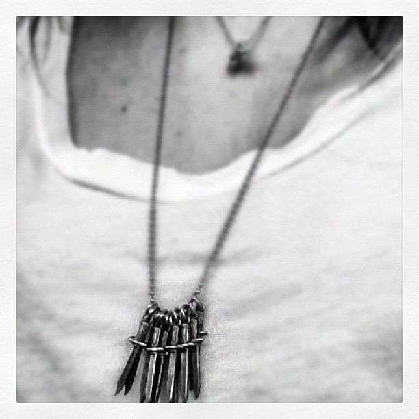 My #daggers are back @jasmincharters Haven't worn this #necklace in two years. Hello #oldfriends  (Taken with  Instagram )