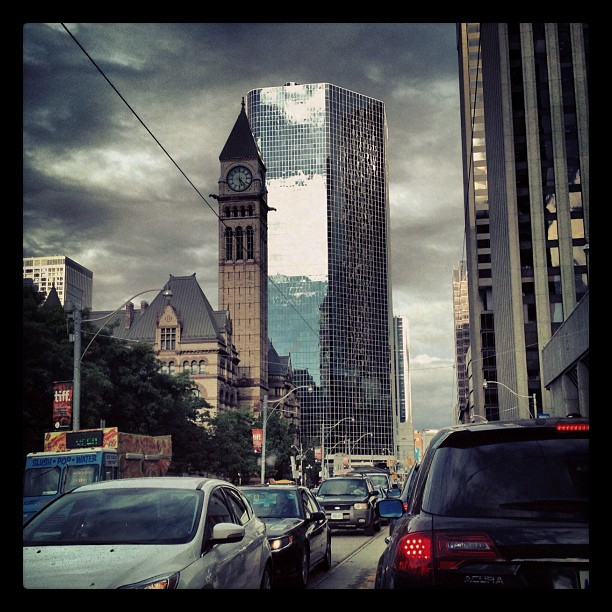 Traffic #toronto #style in a storm. #losangeles got nothing on how congested tdot gets… (Taken with  Instagram )