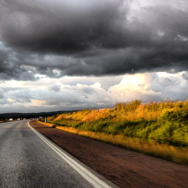On the road again #gypsy #girl #ontheroadagain storm over #mälmo #sweden #latergram #nofilter  (Taken with  Instagram )