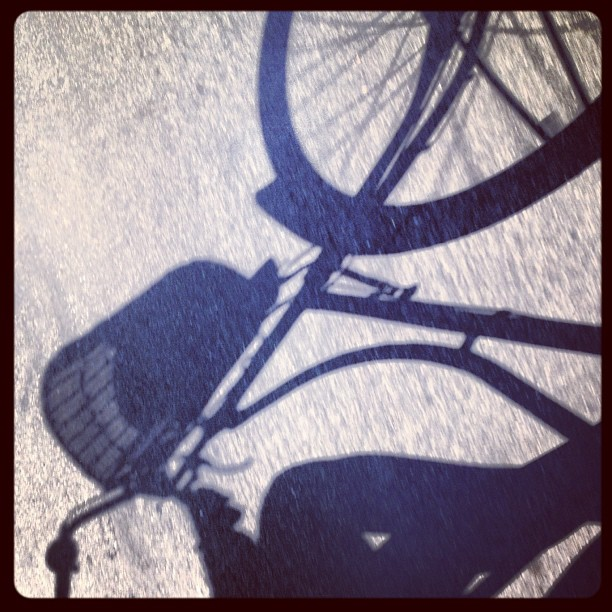 Even in this unforgiving heat. Riding a #bike with the wind in my hair… Favorite place to be @velorbis #love  (Taken with  Instagram )