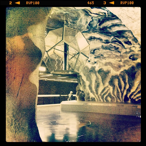 Wild #subterranean #subway #stockholm #geometric #lantern  (Taken with  Instagram )