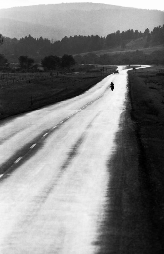 the open road for a bike rider, usa,  photo by  dennis stock       Soon…