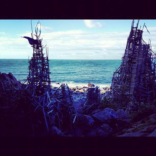 #nimis #sweden a wild city built of driftwood going out to #sea #campvibes #ewokvillage  (Taken with  Instagram )
