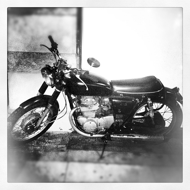 Old school #honda parked in front of hotel #copenhagen excited to get my license when I'm back… (Taken with  Instagram )