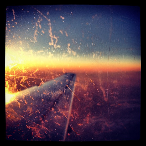 #icy #sunset flying to #copenhagen  (Taken with  Instagram )