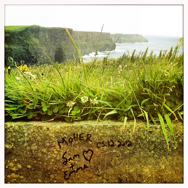 #LOVE at the #cliffs of #moher couldn't help posting another one. Leaving Ireland today with a heavy heart. But a lucky girl indeed to be on my way to #copenhagen  (Taken with  Instagram )