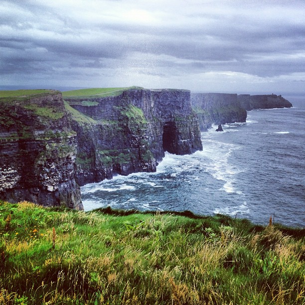 Stunning #cliffs of #moher Took my breath away with the wind. I must go down to the seas again, to the vagrant gypsy life, To the gull's way and the whale's way, where the wind's like a whetted knife;  (Taken with  Instagram )