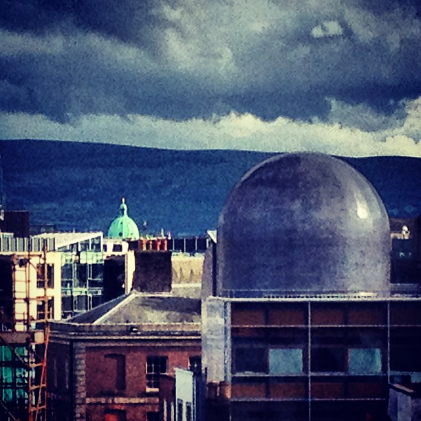 #irish #domes and #stormy #clouds #dublin  (Taken with  Instagram )