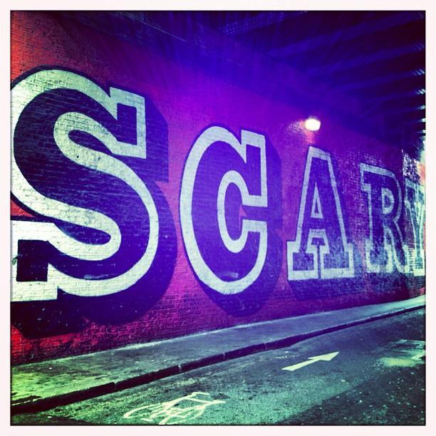#scary #bikelanes #shoreditch #london #streetart ❤ (Taken with  Instagram )