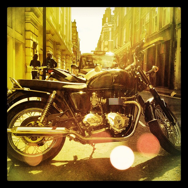 The #sun shines on you #triumph #coventgarden #london  (Taken with  Instagram )