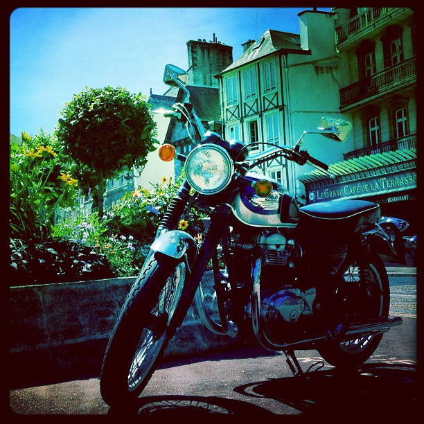 Still have #motorcycles on the mind while traveling #france #kawasaki  (Taken with  Instagram )