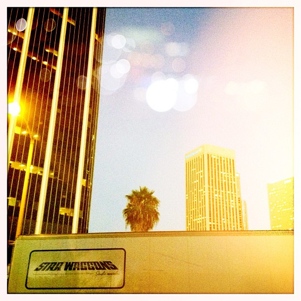 Love being on #film #sets #dtla beginning of the #sunset  (Taken with  Instagram )